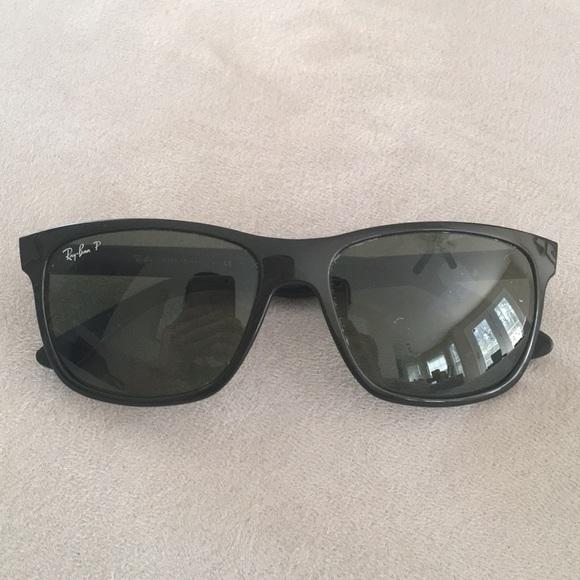 3f7bd9d119 Ray-Ban Original Black Square Polarized Sunglasses.  M 5ac26d4fcaab44488c7ddd2a